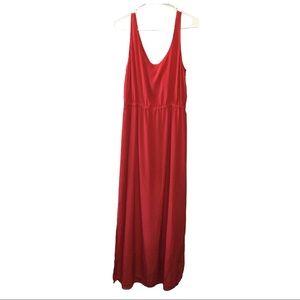Club Monaco Red Maxi Dress Ties & Back Cutout 12